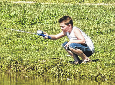 The Fishing Rodeo is a great chance for the whole family to spend a day outside together fishing.
