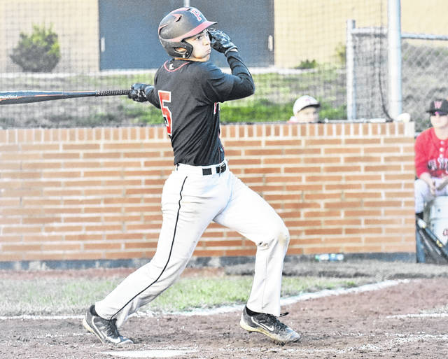 PPHS junior Miles Williams connects with a pitch during the Big Blacks' contest against Wayne on April 25 in Point Pleasant, W.Va.