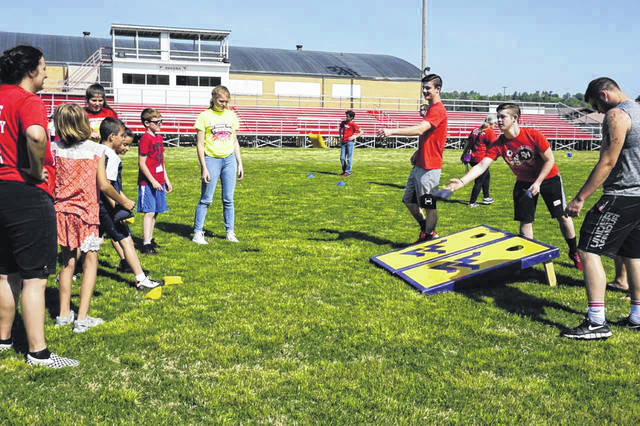 Cornhole was one of the many field day activities at the 50th Annual Mason County Special Olympics.