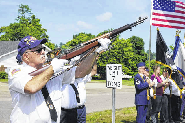 The Stewart-Johnson V.F.W. Post 9926 of Mason and Smith-Capehart American Legion Post 140 of New Haven will be holding ceremonies at each Bend Area Veterans Monument on Monday, beginning at 10:15 a.m., in observance of Memorial Day. Pictured is a scene from last year's event.