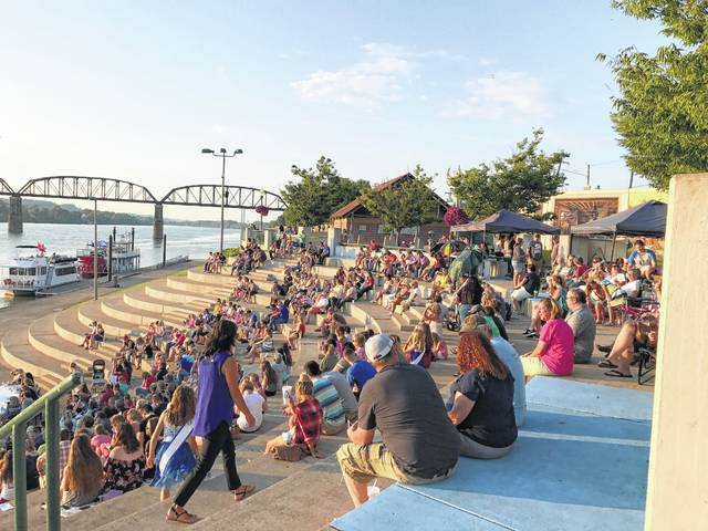 Point Pleasant Riverfront Park fills up fast during the Regatta and its free concerts.