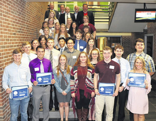 Area high school students who excelled in science studies were honored by Holzer Health Systems at its annual Science Awards Banquet.