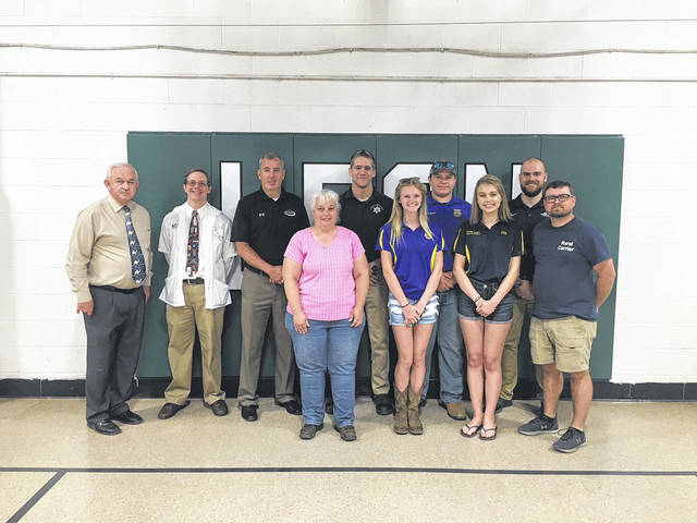 Leon Elementary school recently held a career day. Those pictured are a few individuals involved with the event: in the front row is Jackie Byars, Leah Gray, Clairy Keefer, and Barry Sharp; in the back row is Don Bower, Danny Roll, Wendell Samson, Jon Peterson, Trenton Mays, Colin Pierce.