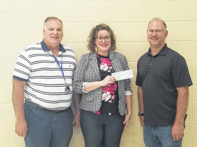 Point Pleasant Rotary donated $250 to Skills USA at the Mason County Career Center. Those pictured are Steve Littlepage, Rotarian, Julia Schultz, Point Pleasant Rotary President, and Steve Richardson, Skills USA.