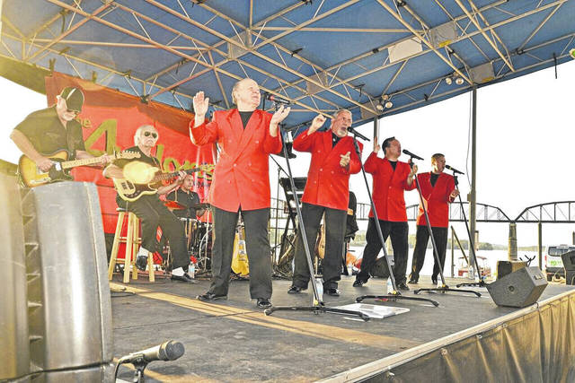 A rock n' roll flashback came through Point Pleasant this weekend. On Saturday evening, The Avalons, an entertaining musical group from Ohio performed at the Riverfront Park. The musical group is comprised of Tom Caldwell, baritone-bass vocals, trumpet; Greg Couch, baritone vocals; Gary Royse, tenor vocals, tenor sax, guitar; Gary Thompson, high tenor- falsetto vocals. The shows takes a journey through tunes from fifties, sixties, and early seventies and is a show for the whole family because of the amount of laughs and fun it packs.