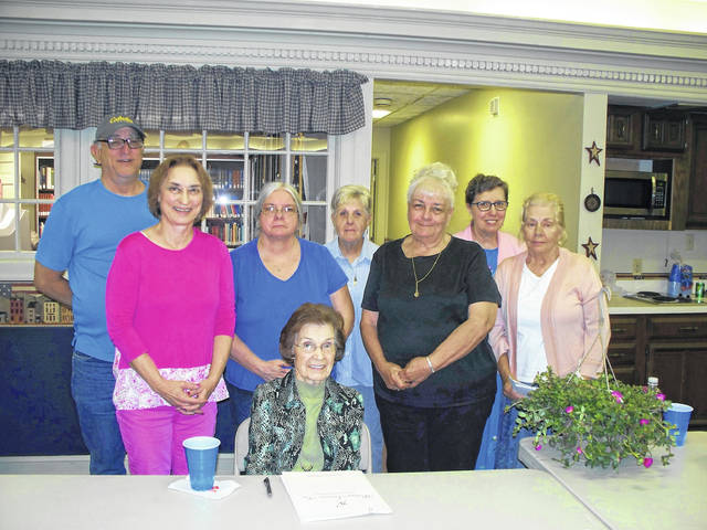 Shown in the picture below, the June 6 meeting of the Point Pleasant Writers Guild. Sitting: Guest Speaker, Dolly Withrow. Standing, left-to-right: Max Price, Connie Price, Carol Newberry, Mona Leach, Marilyn Clarke, Patrecia Gray, and Sue Underwood.