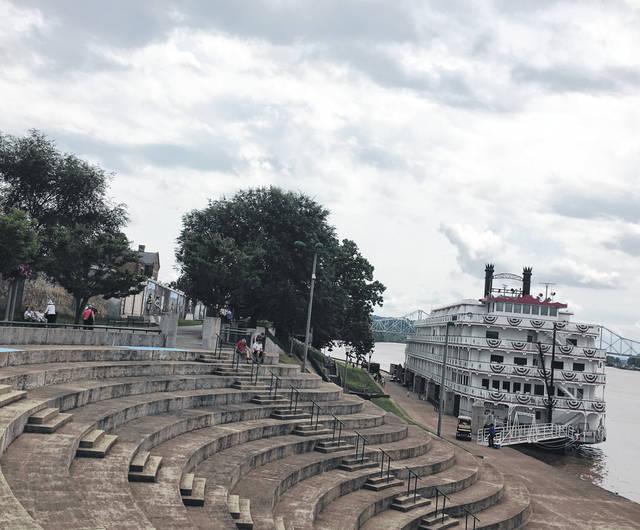 Several Point Pleasant residents, along with others from around the area, made their way to the Riverfront Park to take pictures of the visiting cruise ship, Queen of the Mississippi.