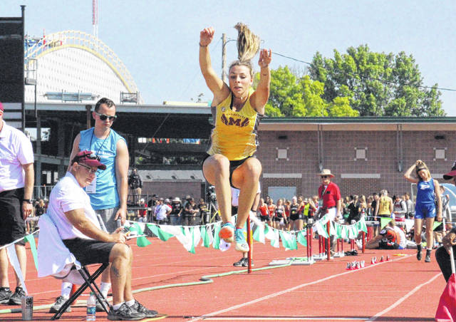 Meigs junior Kassidy Betzing places fourth in the OHSAA Division II long jump state final on Saturday at Jesse Owens Stadium in Columbus, Ohio.