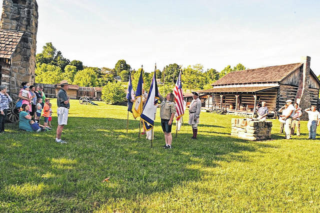 The Point Pleasant Chapter of the Sons of the American Revolution (SAR) held a Flag Retirement Ceremony at Fort Randolph on Flag Day. During the ceremony, the flags were retired properly wherein the flags were given dignity and respect. Each flag was retired according to the U.S. Flag Code (Section 176) guidelines.