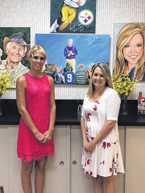 The Community Foundation of Mason County (MCCF) Program Manager Jennifer Pitts pictured with Christy Crowell, executive director of MCCF.