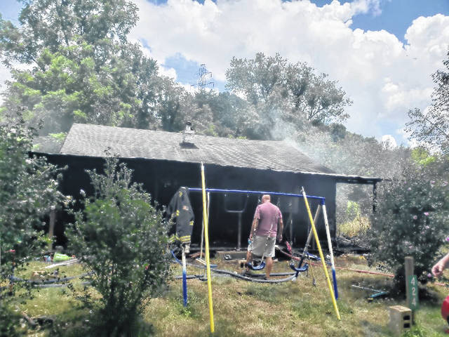 A structure fire in New Haven took approximately two hours to extinguish with no reported injuries of the firefighters on scene.