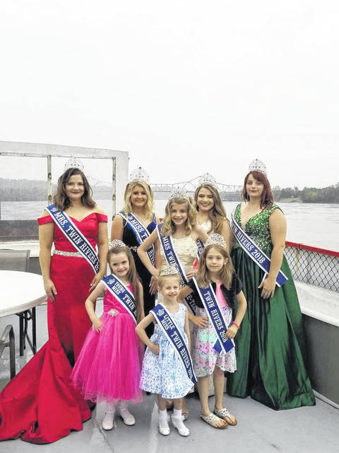 The 2018 Twin Rivers Royalty are as follows: Little Miss Twin Rivers Ella Grant; Young Miss Twin Rivera Mary Supple; Junior Miss Twin Rivers Skylee King; Miss Twin Rivers Pre-Teen Kaylie Joslin; Miss Twin Rivers Kauri Porter; Miss Twin River Teen Anna Litchfield; Ms. Twin Rivers Katlin Clarke; Mrs. Twin Rivers Amanda Fellure.
