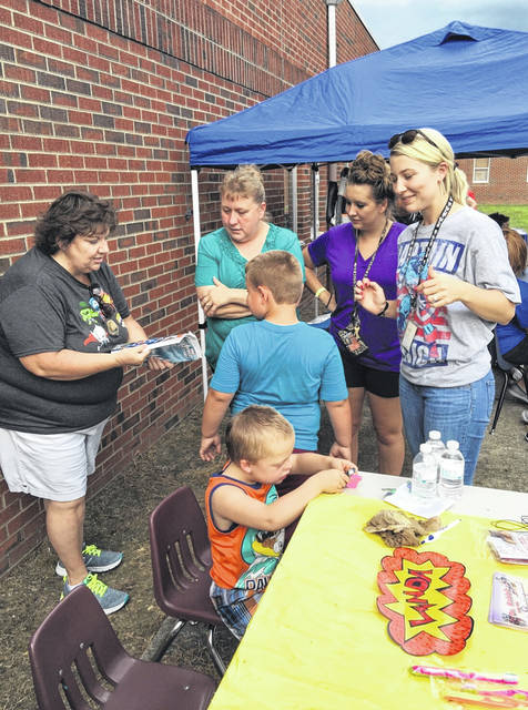 Students and their parents are able to visit PPPS to gather information about their upcoming school year and the students are able to participate in a scavenger hunt.
