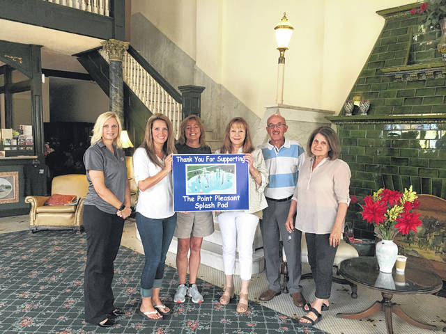 The Finley and Hartley recently gave a donation towards the Point Pleasant Splash Pad. Those pictured are, from left to right, Councilwoman Leigh Ann Shepard, City Clerk Amber Tatterson, Marcia Finley, Janet Hartley, Mayor Brian Billings, and Ruth Finley.