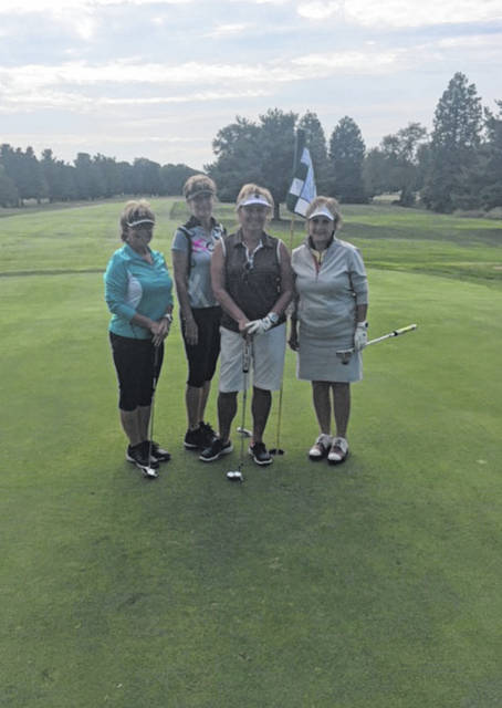 Fourth place winners from the tournament, pictured from left to right, Becky Anderson, Joyce Quillen, Dianna Lawson, and Carol Crow.