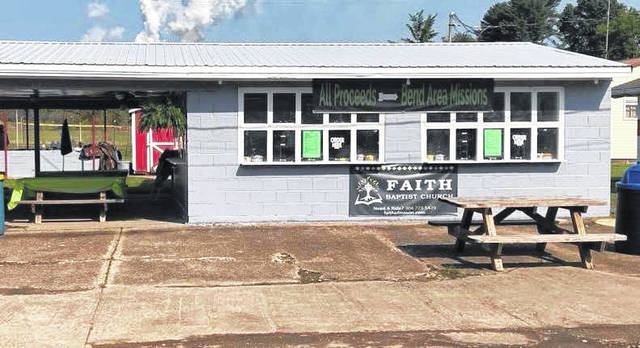 Faith Baptist Church of Mason took over a food booth at the Mason County Fair this year, after its former organization could not operate it. Proceeds from the booth will benefit local non-profit ministries.