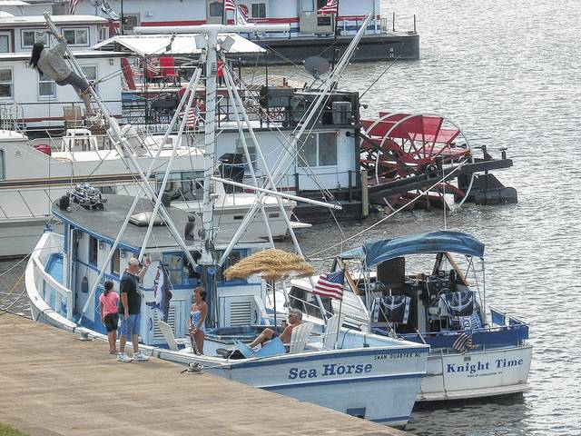 Festival goers will be able to see many boats parked along the Riverfront Park during the festival.