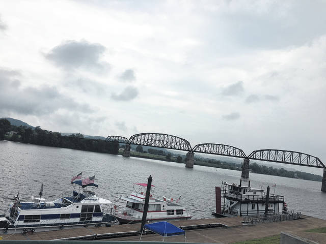 Each Labor Day weekend the Riverfront Park is lined with boats for the annual 'Tribute to the River' festival.
