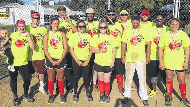 "The ""Fifth Annual Kickin' Cancer in the Balls Kickball Tournament"" will be held Saturday, Sept. 22, beginning at 8 a.m. at the New Haven Ballfields. In the past four years, nearly $32,000 has been raised to help with the medical bills and expenses of local cancer patients. Pictured is the winning team from last year's event."