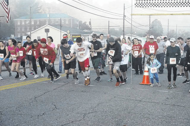 The 10th annual Wahama Scholarship 5K Walk/Run for Education will be held Oct. 20 at the New Haven Fire Station. Registration begins at 6:30 a.m., with the run to start at 8 a.m. Proceeds go to provide scholarships to Wahama seniors in the spring. Pictured is the start of the race from last year's event.