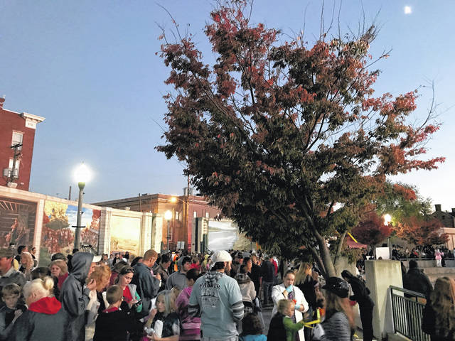 Another large crowd is expected for the annual Point Pleasant Halloween Block Party which this year moves from Riverfront Park back to Main Street, to allow more space for activites. Pictured is a scene from last year's block party.