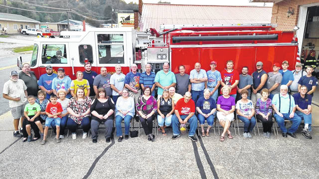Nearly 50 people attended a dinner marking the 70th anniversary of the New Haven Volunteer Fire Department recently. The dinner was cooked by the New Haven United Methodist Women, with church members showing their appreciation to the firefighters by presenting them with individual scripture dog tags.