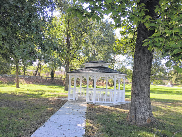"Right off the Robert and Louise Claflin Walking Trail at Krodel Park is a new gazebo. The gazebo was fully funded by the Claflin Foundation and will be maintained by its board members. The area where the gazebo has been added is known as ""Claflin Corner"" and more additions may be coming in the future, such as picnic tables. ""Claflin Corner"" is a shaded area where those visiting Krodel Park can have a spot to relax."