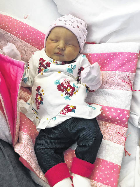 Ashley McGill and Colton McKinney announce the birth of their daughter, Paislynn Grace McKinney. Paislynn, pictured, was born Oct. 15 at 7:24 p.m. at Pleasant Valley Hospital. She weighed six pounds, 1.8 ounces, and was 20 inches long.