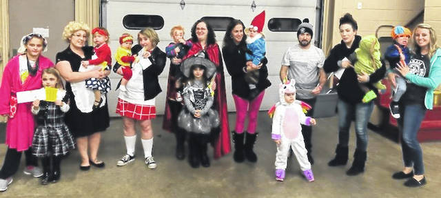 Pictured are winners in the costume contest, ages 0-5 years, at the New Haven Halloween party, following trick-or-treat Thursday evening. The party was sponsored by the town, and held at the New Haven Fire Station.