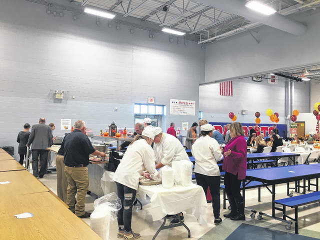 The pro-start culinary students from the Mason County Career Center helped with making and serving lunch.