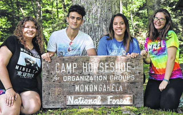 The teens participating from Mason County were, pictured from left to right, Kayla Butler, Nazar Abbas, Rebekah Dimsdale, and Katelyn Moody.