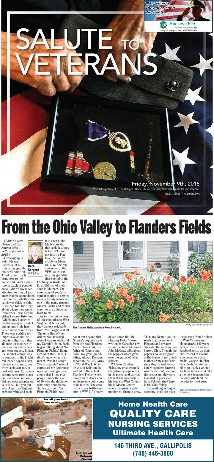 Salute to Veterans 2018 - The Point Pleasant Register