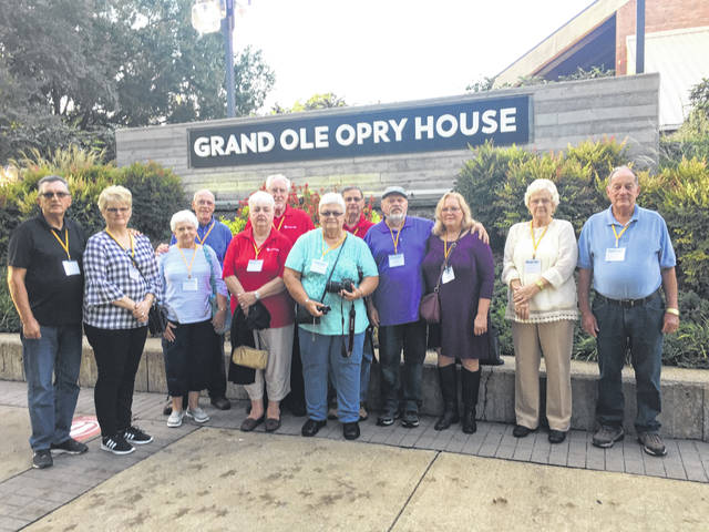 Woodmen Life Family Chapter 302 of New Haven Senior members recently attended fall senior camp traveling to Nashville, Tennessee. The West Virginia and Ohio chapters merged and were transported by Diamond Tours buses. The group visited the Grand Old Opry, the Music Hall of Fame, the Back Stage Opry, and various dinner theatres. The members who attended were Dave and Shelia Washington, Sharon and Kenneth Vickers, Pat and Ray Friend, Rox Ann and Jim Workman, Wayne and Jeanie Sayre, Judy and Curt Hunt.