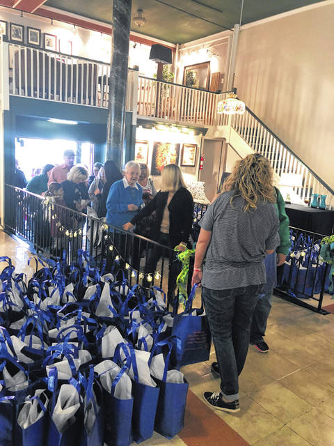 Those who purchased a VIP ticket were invited to a reception at Gallery at 409 to receive their VIP swag bags.