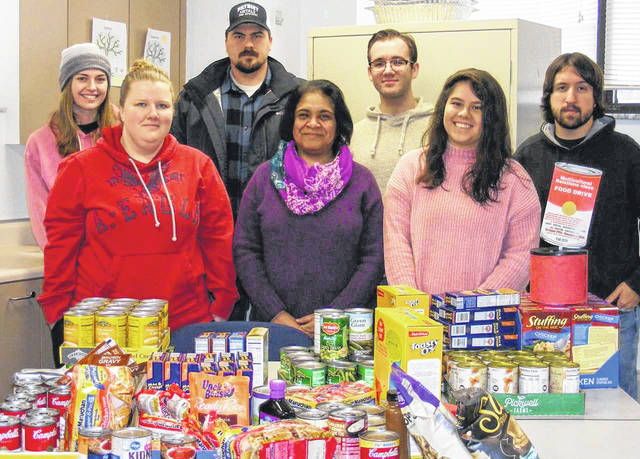 Students in the University of Rio Grande and Rio Grande Community College Bunce School of Education collected nonperishable foods to be divided between the Gallia County Food Pantry and Rio's Helping Hands Food Pantry on campus.
