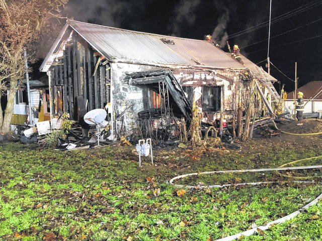 A house on Adamsville Road in Mason was destroyed by fire Tuesday evening, with the cause reportedly being from a deep fryer in the kitchen. One of the home's occupants received burn injuries and was taken to the hospital by the Mason County EMS, according to a spokesman from the Mason Volunteer Fire Department.