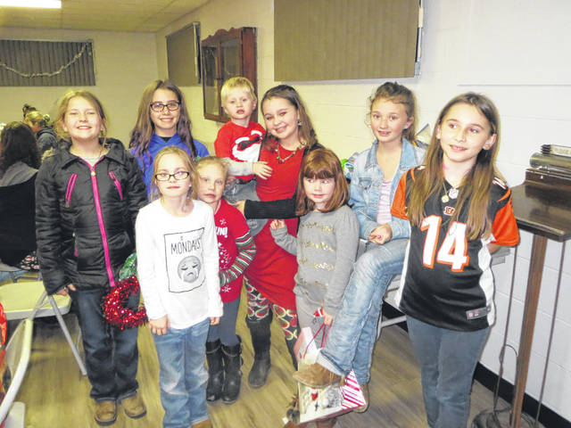 The Leon Luckies 4-H Club and the Little Luckies Cloverbuds recently held a meeting and had a Christmas drawing held as a fundraiser for the club. Eric Taylor of Leon was the lucky winner. The clubs dismissed and had a pizza party and gift exchange. Pictured is some of the Leon Luckies 4-H Club and the Little Luckies Club members, from left to right in the back row, Brianna Miller, Nicole Oldaker, Bash Taylor, Riley Springston, Taryn Stone, and Holly Thomas, from left to right in the front row, Acelynn Casto, Izzi Casto, and Marissa Thomas.