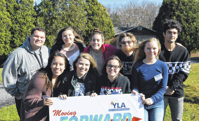 Representing the Point Pleasant YLA, pictured front row, from left, are Kayla Butler, Anna Litchfield, Avery Richardson, and Ashleigh Mayfield; back row, from left, Jacob Shull, Madeline Willcoxen, Kasey Lyons, Carson Taylor, and Nazar Abbas.