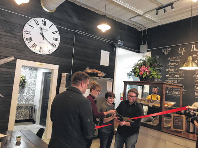 Larry and Candice Hess along with their daughter Jada Marie joined together for the ribbon cutting this past Saturday for their newly opened business River Roasters Coffee Co. in Pomeroy. State Representative Jay Edwards was in attendance to present Larry and Candice with a proclamation as well.
