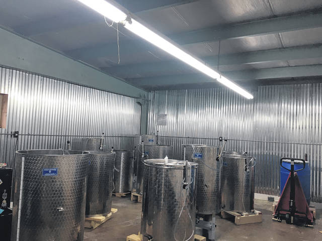 The wines for OSR Winery are made inside the winery.