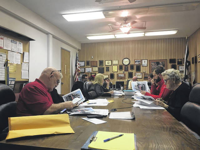 Point Pleasant City Council members discussing agenda items this week.