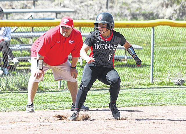 Rio Grande head coach Chris Hammond, left, and All-America shortstop Michaela Criner provide two key parts to the upcoming softball campaign as the RedStorm have been named the favorite in the 2019 River States Conference Softball preseason coaches' poll.