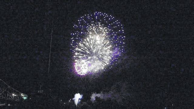 Pictured are some of the annual fireworks which always closed the Point Pleasant Sternwheel Regatta.