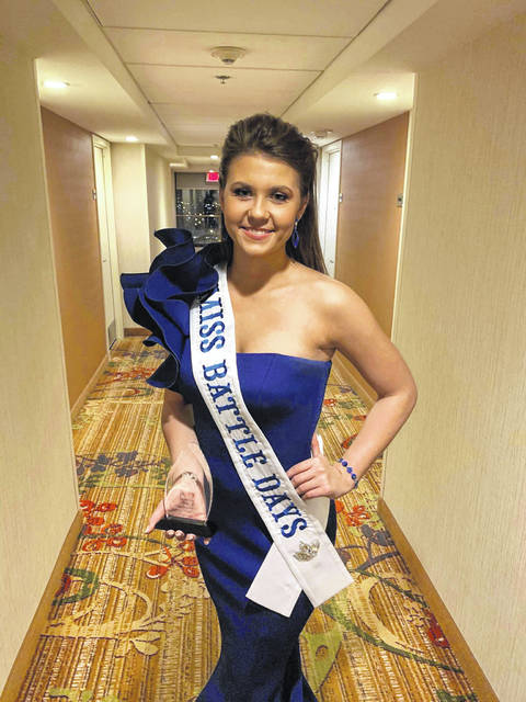 Emma Rice, 2018 Miss Battle Days, pictured in her evening gown for the West Virginia Association of Fairs & Festivals Pageant.