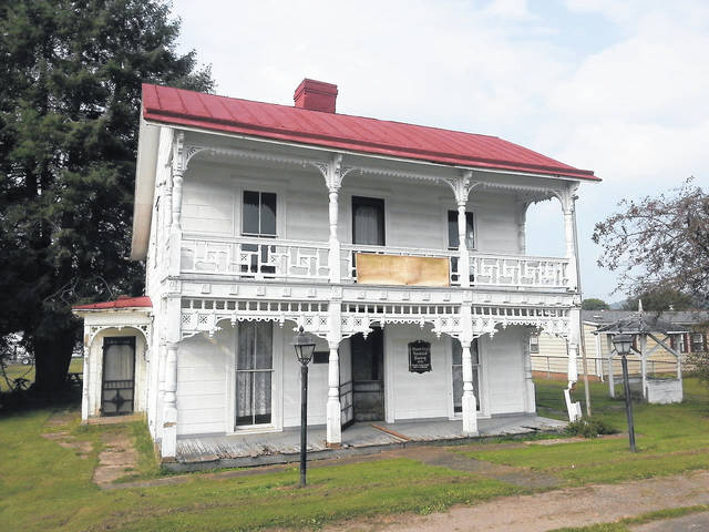 A photo of the former Virgil A. Lewis home in Mason.