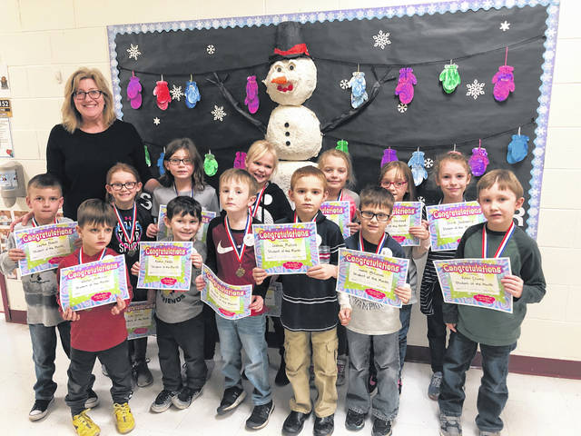 Students of the Month for January were recently chosen at Point Pleasant Primary School (PPPS) by their teachers. The students had lunch with their Principal Mrs. Vicki Workman, pictured with her are Keaton Fields, Weston McMillan, James McComas, Kolt Dewitt, Roman Fallon, Ryker Crump, Joshua Mullins, Emmalin Halstead, Mackenzie Robinson, Olivia Goldsberry, Layton Powell, Jordan Wright, Lola, Tolliver, and Cassidy Wilson.