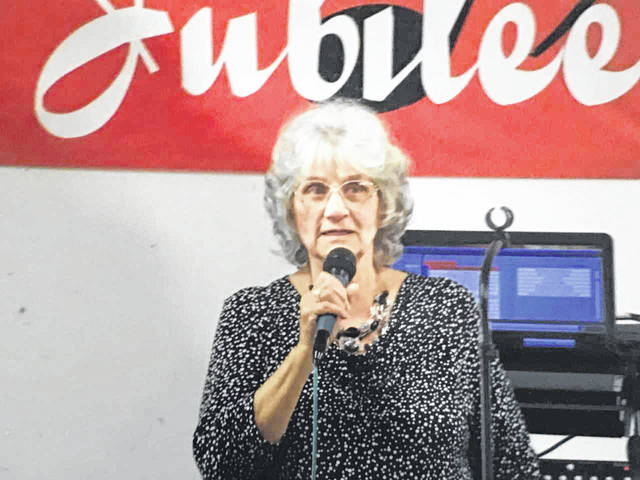 Evelyn's Birthday Bash, one of the largest fundraisers for the annual Bend Area Gospel Jubilee, will be held March 23, 5:30 p.m., at the Father's House Church fellowship hall in Hartford. Pictured is Evelyn Roush, jubilee promoter.