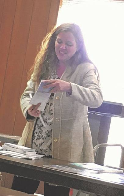 Amanda Lacy, community outreach specialist for the U.S. Drug Enforcement Administration, stopped by the recently held MCPC meeting to discuss Drug Take Back Day on Saturday, April 27 and other business.