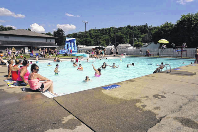 Members of the New Haven Pool Committee are gearing up to distribute letters seeking donations to provide free admission to the municipal pool for the second year. Pictured is a scene from last summer.