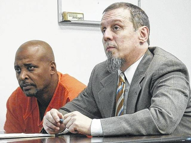 Richard A. Hurt, left, appeared with his attorney, Courtenay Craig, in Mason County Magistrate Court in August 2016. Craig represented Hurt at Tuesday's sentencing in Mason County Circuit Court.